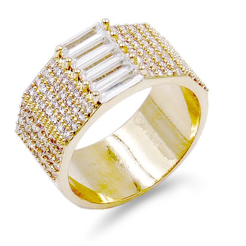 Gold Plated With CZ Sized Rings. Size 9