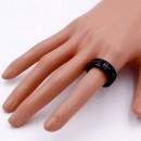 8mm Black Tone Stainless Steel Men's Ring