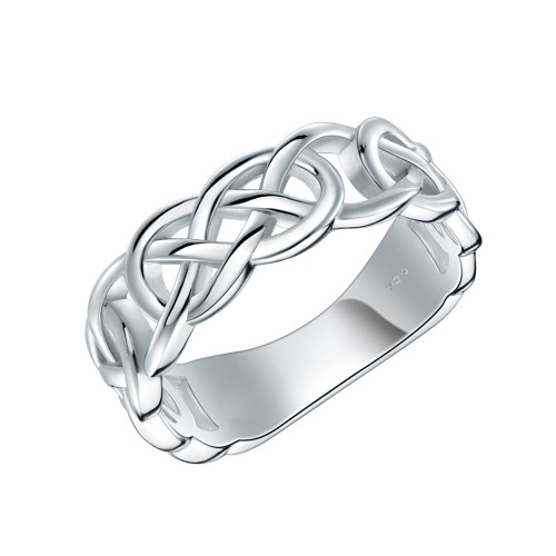 925 Sterling Silver Rhodium Plated Eternity Rings for Women
